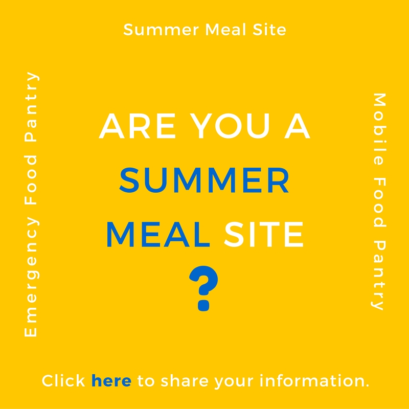 Are you a Summer Meal Site?